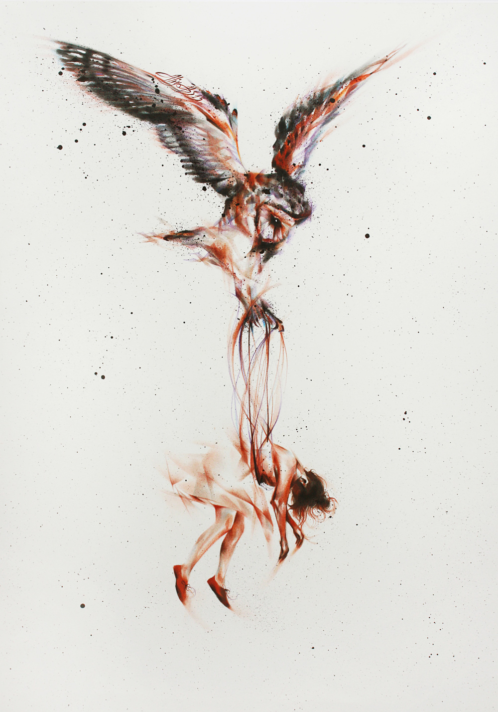 Vogel der Melancholie von Aliya Abs