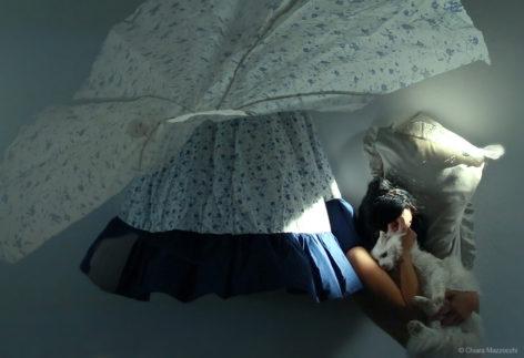 Sleeping Standing Selfportrait, Chiara Mazzocchi
