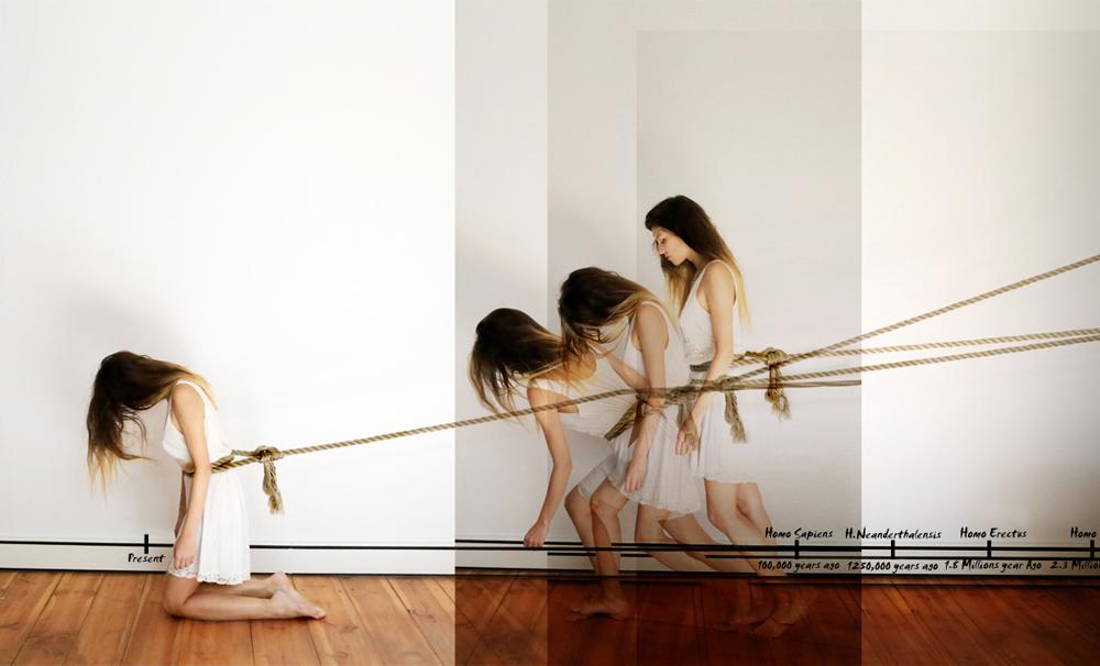 † InVolution N.1 // Inverse-Evolution-Separation // Selfportrait, Chiara Mazzocchi 2015, Berlin, euROPE